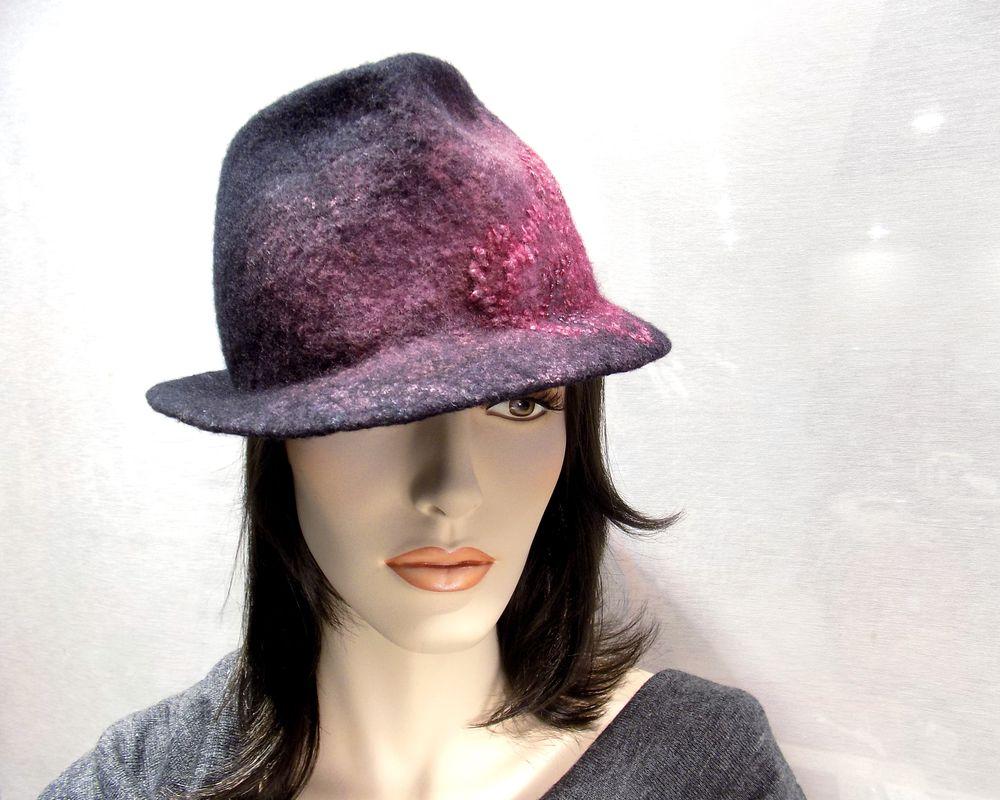 валяние из шерсти, валяная шляпка