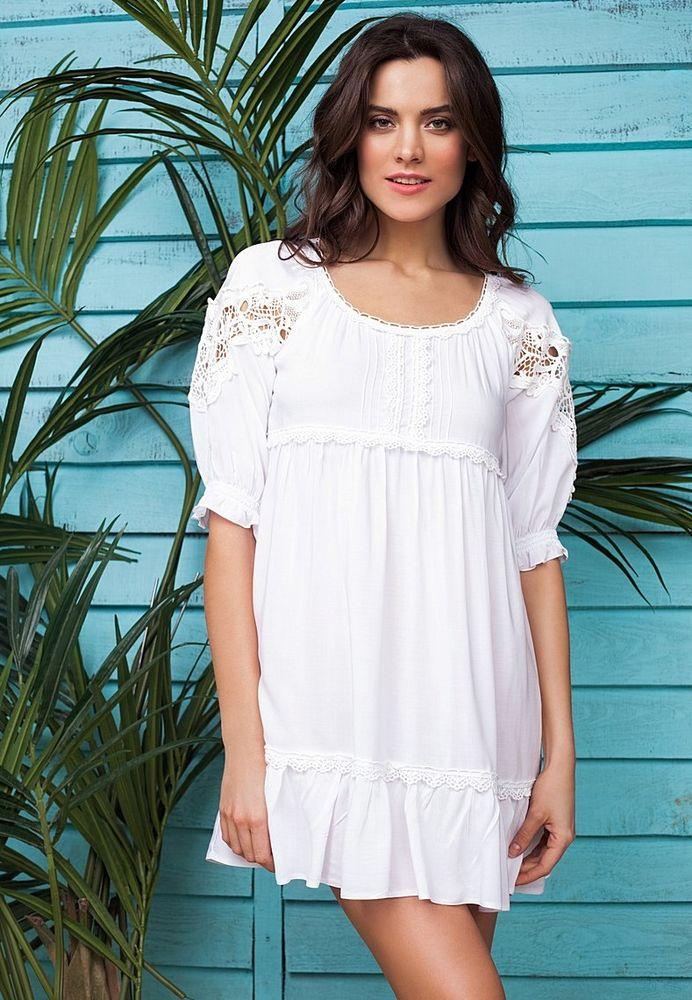 Белое бохо, или Шикарная одежда для королевы летнего пляжа, фото № 32