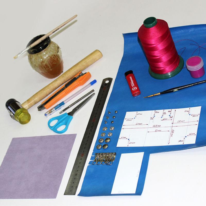 Tutorial on Making a Leather Key Bag, фото № 1