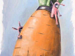 Творческий ежедневник. День 13. Этюд «Троянская морковь». Ярмарка Мастеров - ручная работа, handmade.