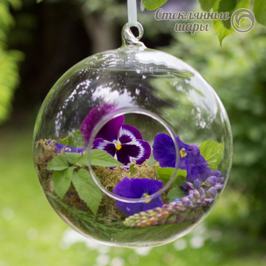 стеклянный шар, стеклянный шар подвеска, свадебная флористика, стеклянный шарик