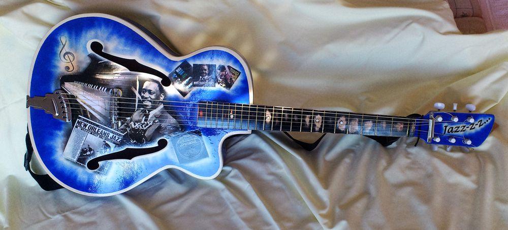 гитара, синяя гитара