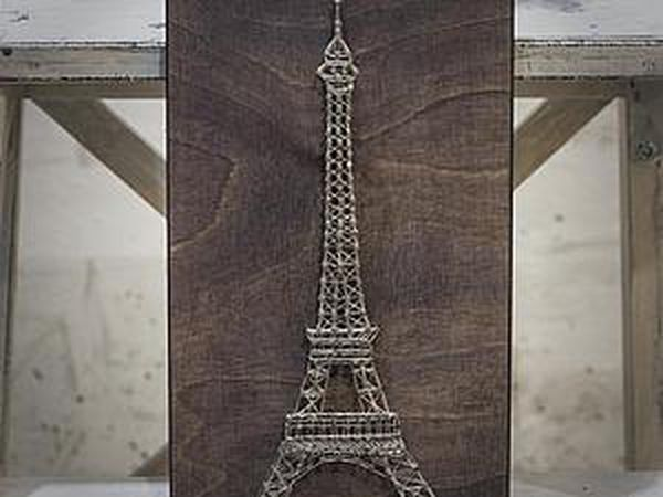 An Idea How to Create an Interior String Art Panel | Livemaster - handmade