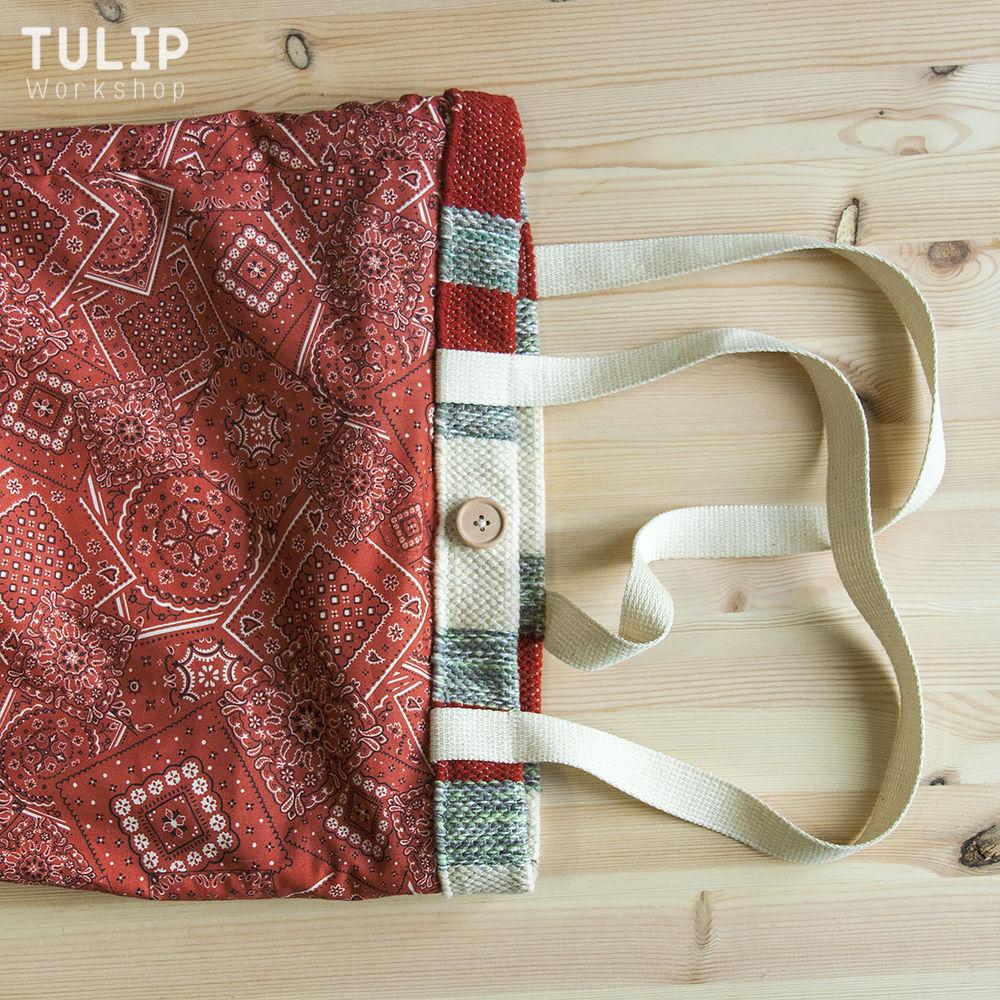 Шьем сумку-шоппер из домотканого коврика без выкройки, фото № 11