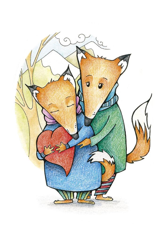 посткроссинг, thecarrotparrot, сказки кэра и пэра, лиса, лисы, любовь, сказки, сказка, история, лисичка, влюблённые