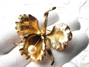 Видео. Серебряная брошь Орхидея, Napier, США, 60ые. Ярмарка Мастеров - ручная работа, handmade.