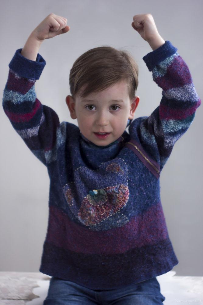 валяние, одежда для детей