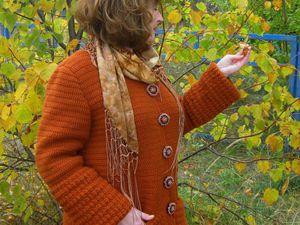 Вяжем теплое осеннее пальто | Ярмарка Мастеров - ручная работа, handmade