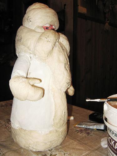 реставрация ватной игруш, ремонт мороза