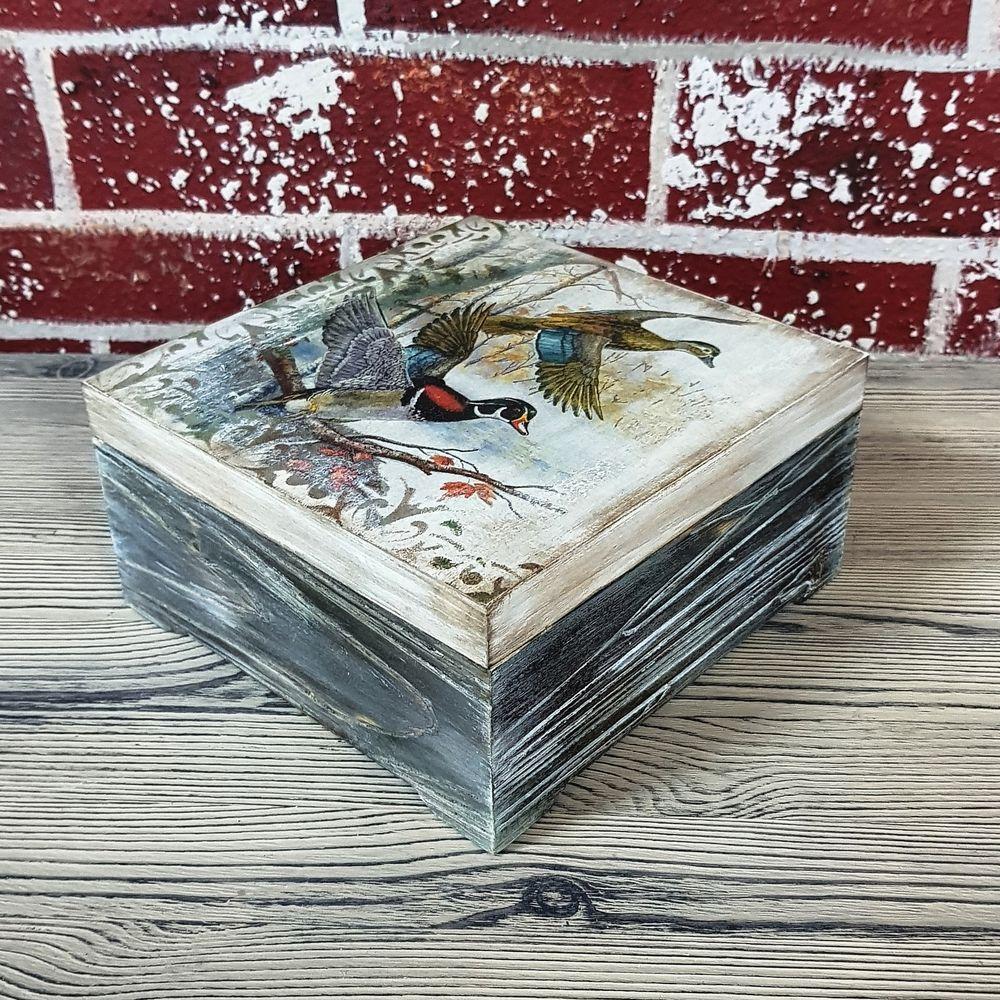 Сосновая шкатулка в стиле  «Рустик», фото № 2