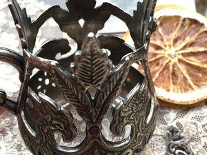 Подсвечник из двух частей. Пламенеющая готика. Ярмарка Мастеров - ручная работа, handmade.