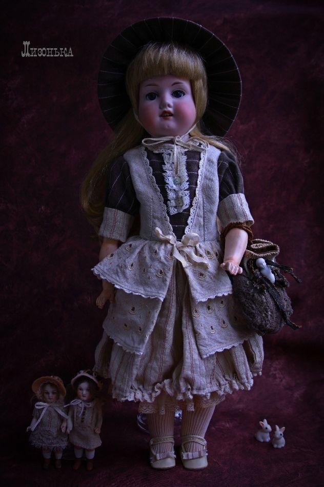 антикварная куколка