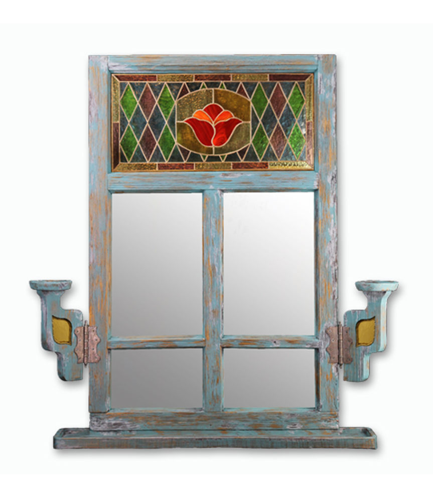 зеркало-окно, роспись