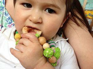 Что грызет моя дочка, когда режутся зубки. Ярмарка Мастеров - ручная работа, handmade.