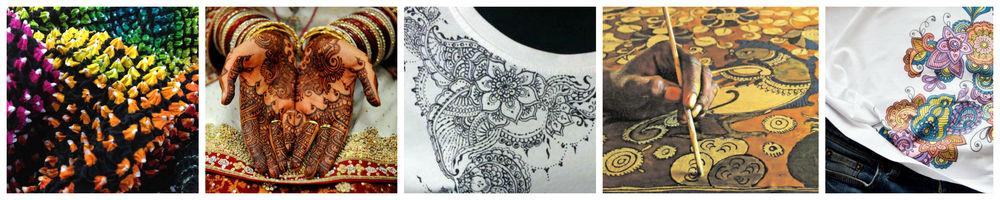 роспись по ткани, роспись своими руками, япония, мехенди