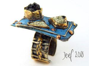 Кольцо Новогодний мерцающий Малевич. Ярмарка Мастеров - ручная работа, handmade.