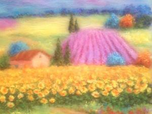 Мк картина из шерсти - Пейзаж. | Ярмарка Мастеров - ручная работа, handmade