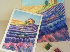 Техники акварельной живописи: пишем на сухой и влажной бумаге. Ярмарка Мастеров - ручная работа, handmade.
