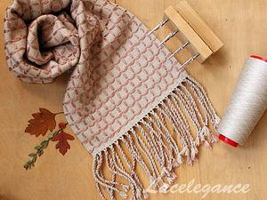 Видео мастер-класс: ткем шарф в клетку. Ярмарка Мастеров - ручная работа, handmade.