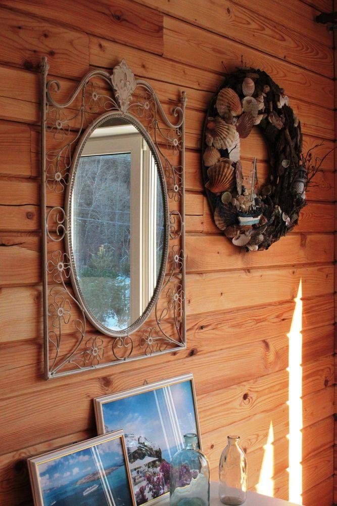 морской венок, декор гостиной