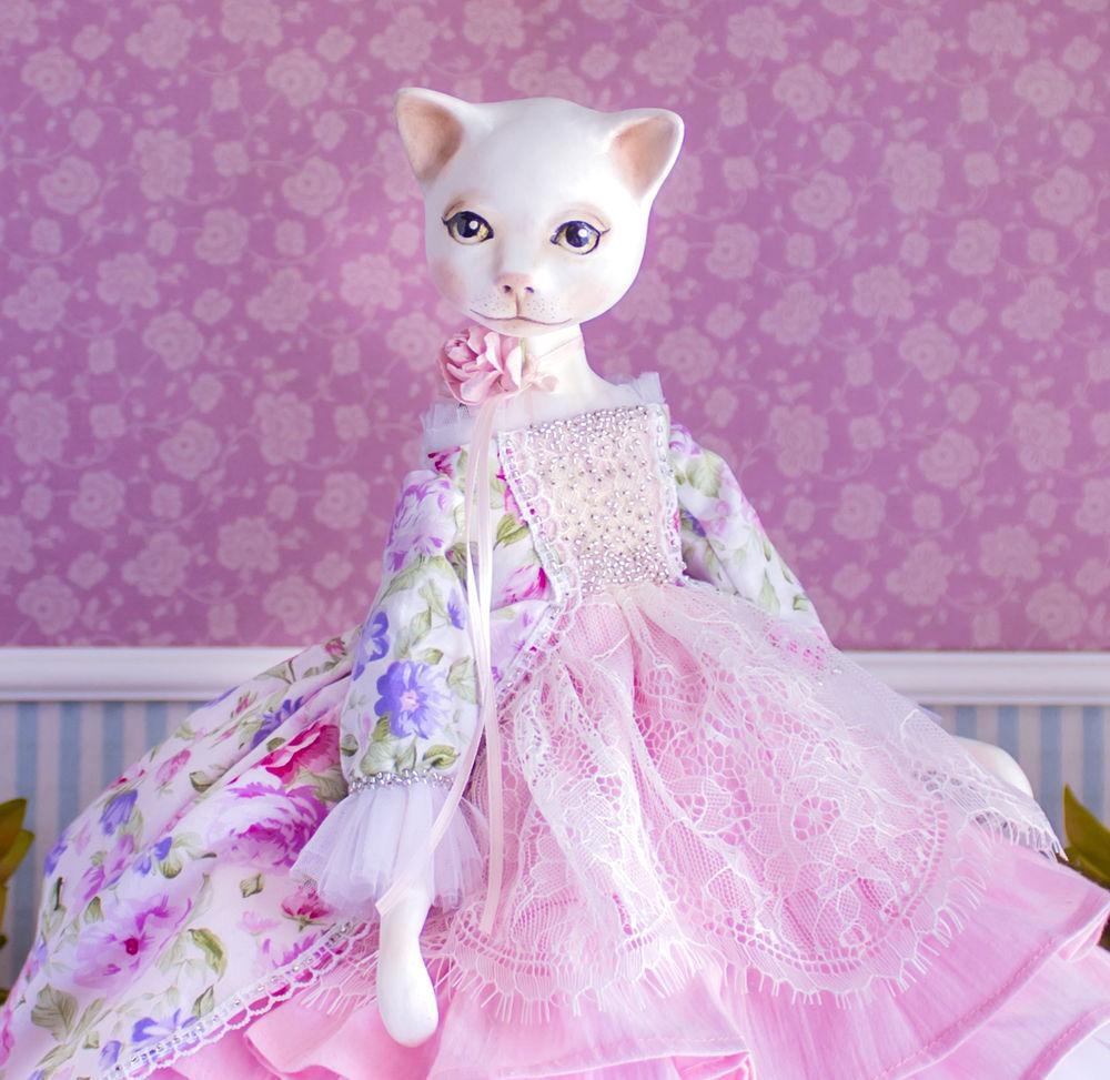 купить авторская кукла, кот