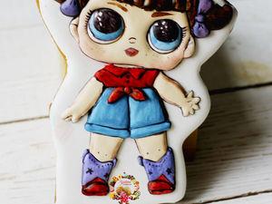 Расписываем пряник «Кукла Лол». Ярмарка Мастеров - ручная работа, handmade.