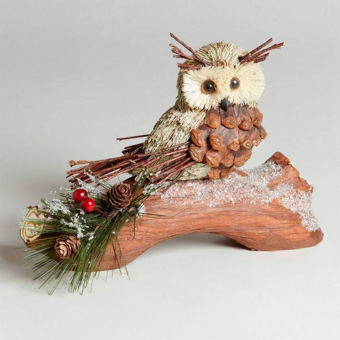 Поделки из природного материала как сделать сову - Dorel.ru