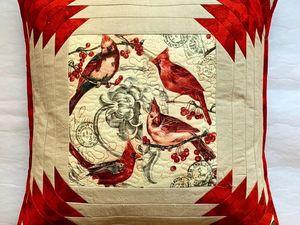 Как легко и быстро сшить новогодний подарок подушку-открытку. Ярмарка Мастеров - ручная работа, handmade.