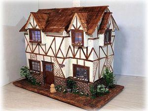 Двухэтажный, миниатюрный ,фахверковый дом. Ярмарка Мастеров - ручная работа, handmade.
