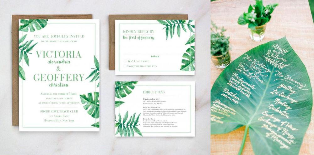 листья пальмы, свадебная фотосессия