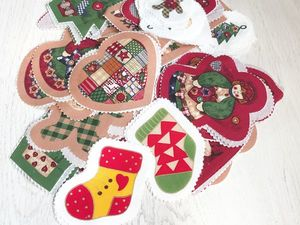 Набор для пошива елочной игрушки. Ярмарка Мастеров - ручная работа, handmade.