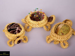 Соломенная черепаха-игольница. Ярмарка Мастеров - ручная работа, handmade.