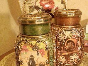 Декорированные баночки.. Ярмарка Мастеров - ручная работа, handmade.