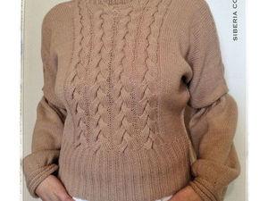 Модный тренд - укороченная длина свитера. Ярмарка Мастеров - ручная работа, handmade.
