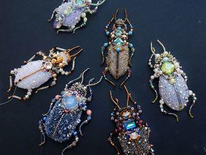 Анонс новой коллекции брошек жуков. Ярмарка Мастеров - ручная работа, handmade.