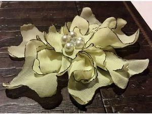 Быстрый и простой способ сделать цветок из шифона. Ярмарка Мастеров - ручная работа, handmade.