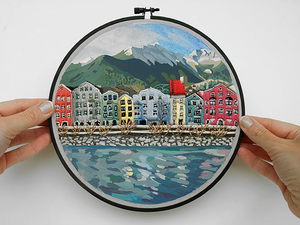 Look at the World Through the Hoop: Embroidered Travels by Libby Williams. Livemaster - handmade