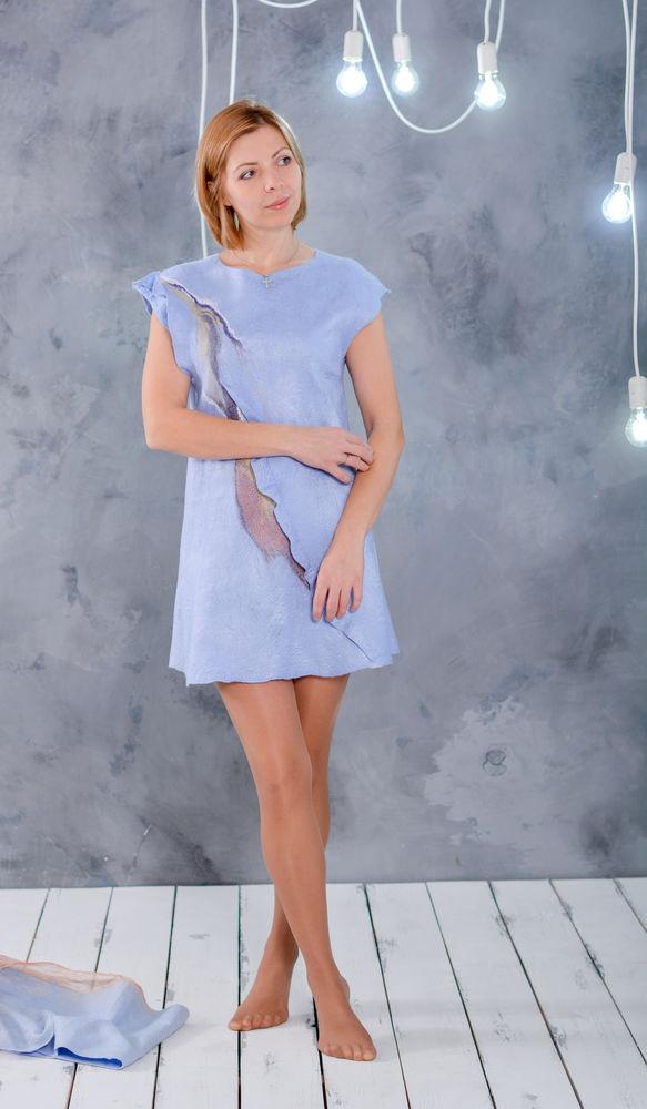 мк в украсе, мк по валянию, валяное платье, нуновойлочное платье, платье валяние