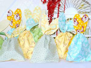 Пасхальные мешочки с ушками.. Ярмарка Мастеров - ручная работа, handmade.