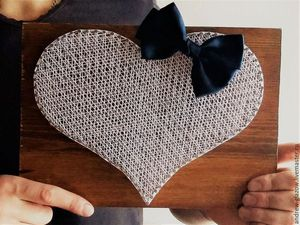 How to Make a String Art Heart. Livemaster - handmade