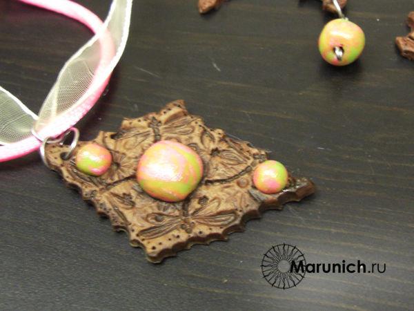 полимерная глина мастер класс, имитация кожи, марунич