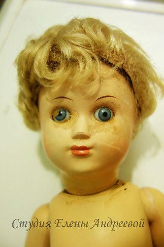 замена глаз куклы