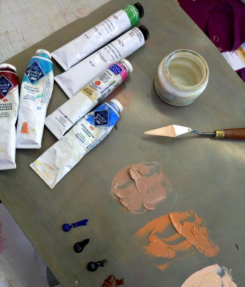 акриловые краски, авторская живопись, художественные материалы