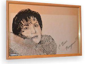 Портрет по фото на зеркале Маме   Ярмарка Мастеров - ручная работа, handmade