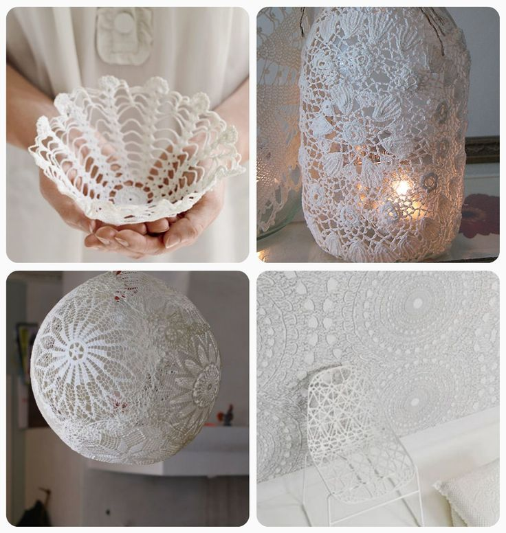 luvinthemommyhood: doily crafts & diy roundup