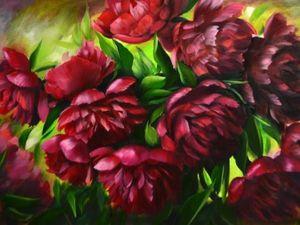 Торжество пионов в современной живописи: подборка из 38 картин | Ярмарка Мастеров - ручная работа, handmade
