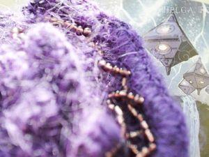Вязаная брошь Star Violet из новой коллекции Space Spring уже в продаже. Ярмарка Мастеров - ручная работа, handmade.