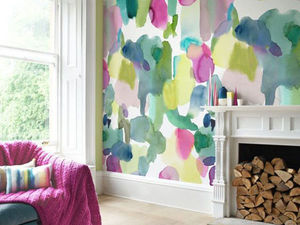 The Tenderest Interior: Abstract Watercolours on Modern Wallpapers. Livemaster - handmade
