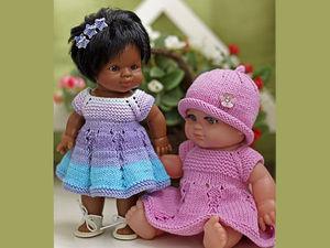 Вяжем платье «Первоцветик» для пупсов — одеваем всех от мала до велика!. Ярмарка Мастеров - ручная работа, handmade.