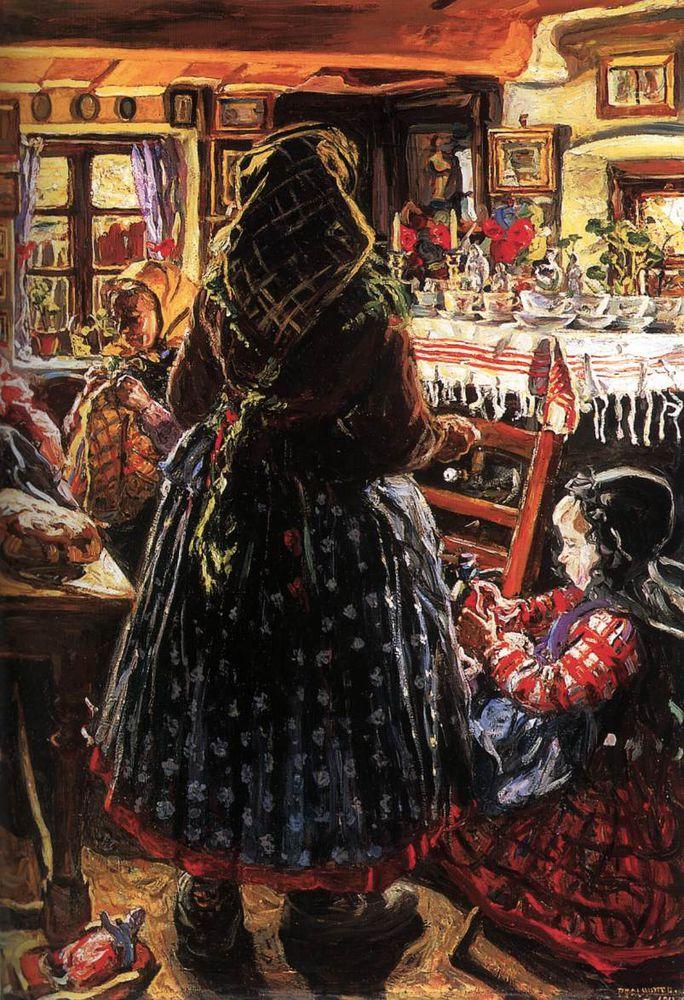 Когда есть чем заняться — стареть некогда: душевные картины о бабушках-рукодельницах, фото № 45